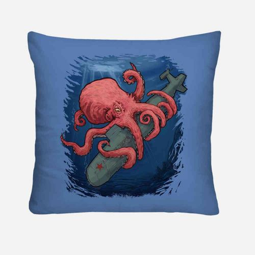Red octopus cuscino