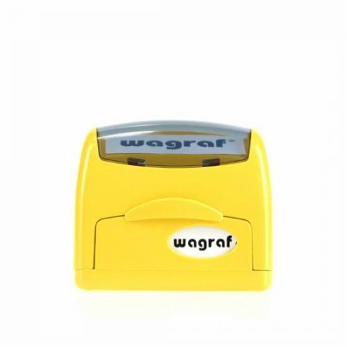Timbro autoinchiostrante wargraf compreso di gomma con dati da inviare a info@tipoarts.com